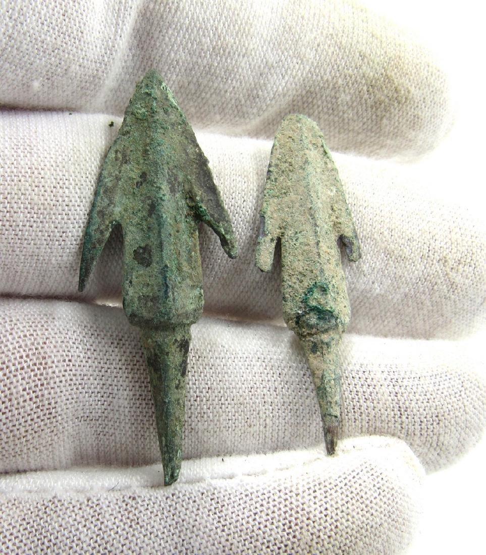 Pair of Ancient Greek Bronze Arrows - 3