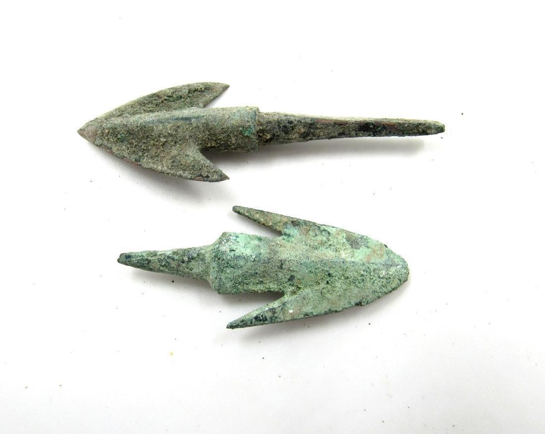Pair of Ancient Greek Bronze Arrows - 2