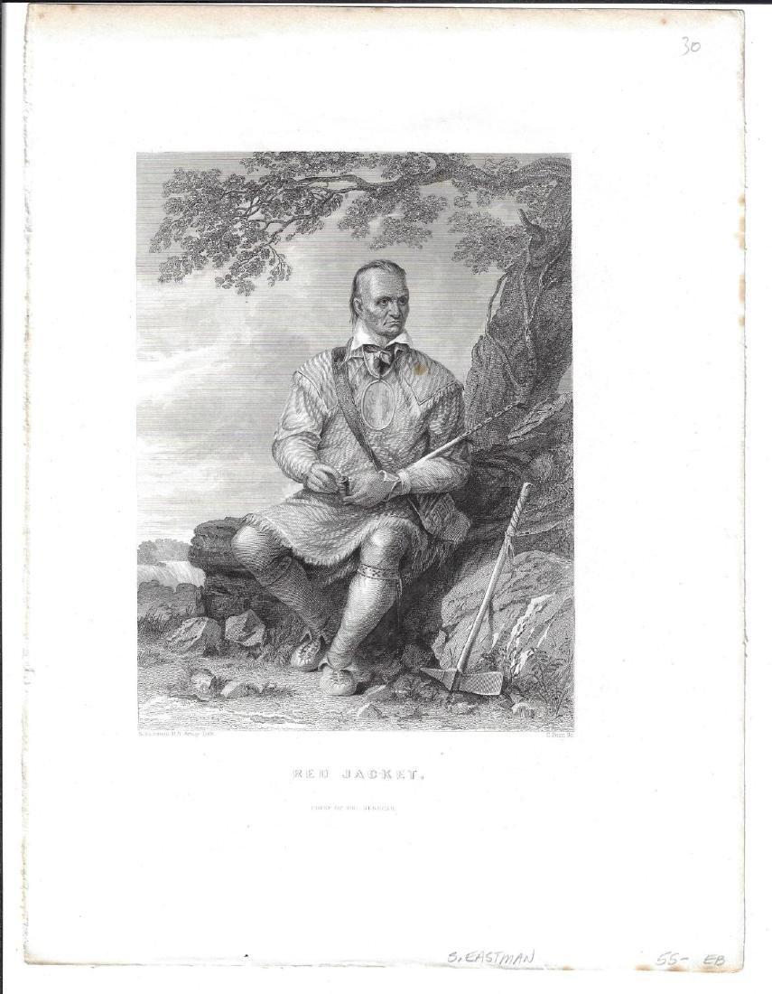 1851 Engraving Seneca Chief Red Jacket
