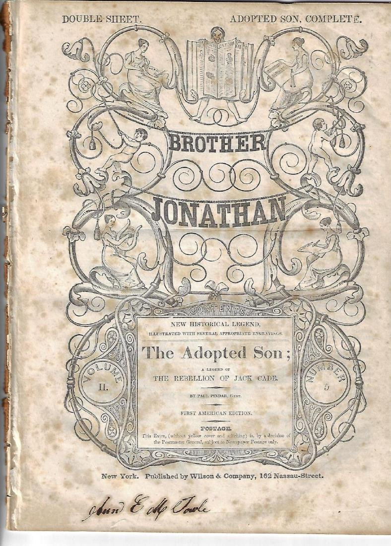 1842 Brother Jonathan issue Adopted Son A Legend