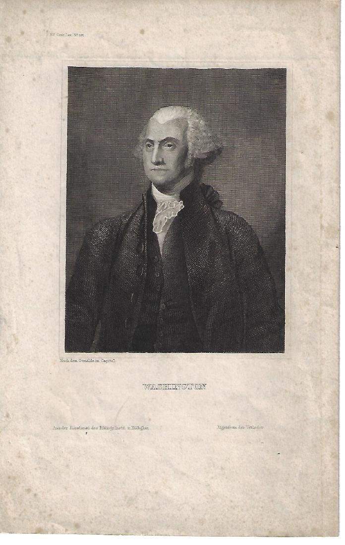 1812 Engraving of George Washigton