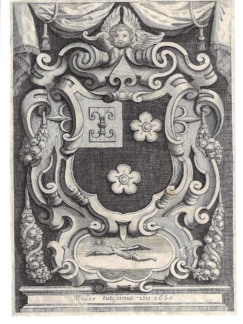 1660 Fine Engraving Heraldic Arms