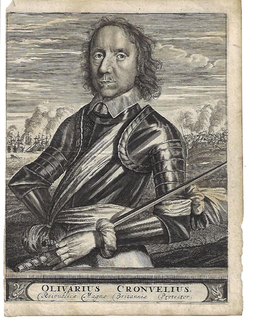 17th C Engraving of Oliver Cromwell
