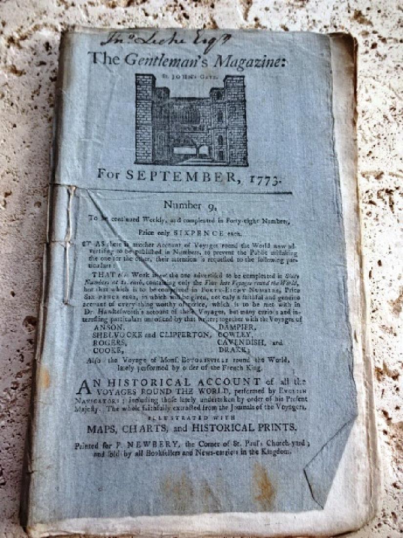 1773 Gentleman's Magazine South Seas Voyage w/ Plate