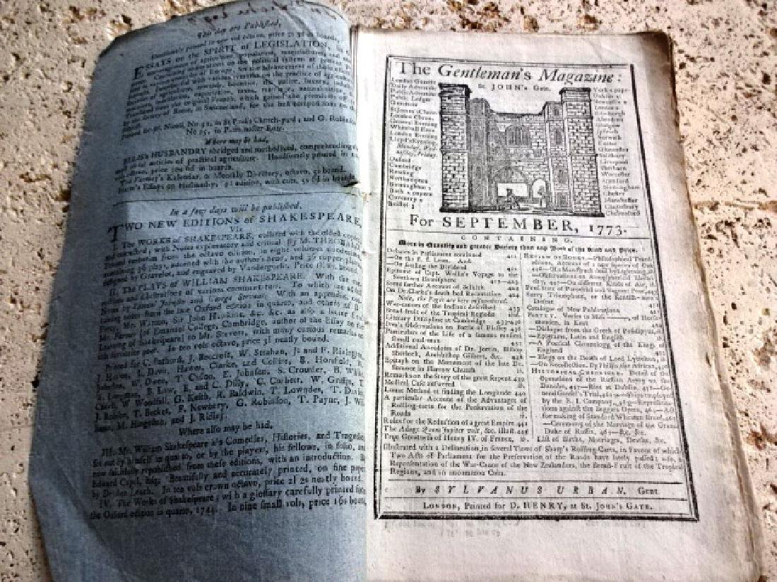 1773 Gentleman's Magazine South Seas Voyage w/ Plate - 4