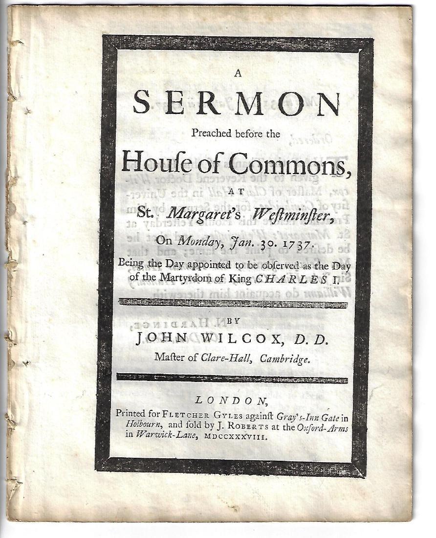 1738 English Sermon on Charles I Martyrdom