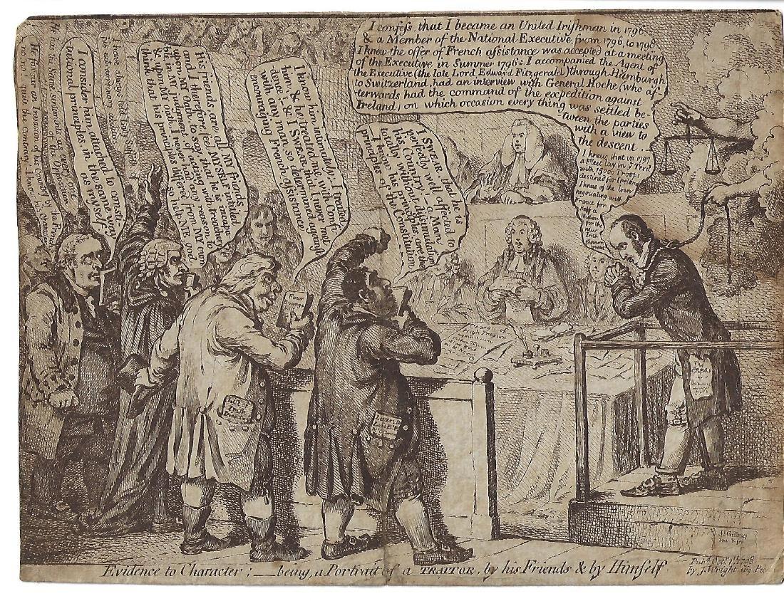 1798 James Gillray Political Cartoon