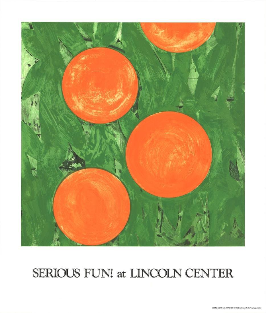 Donald Sultan Serigraph Four Oranges