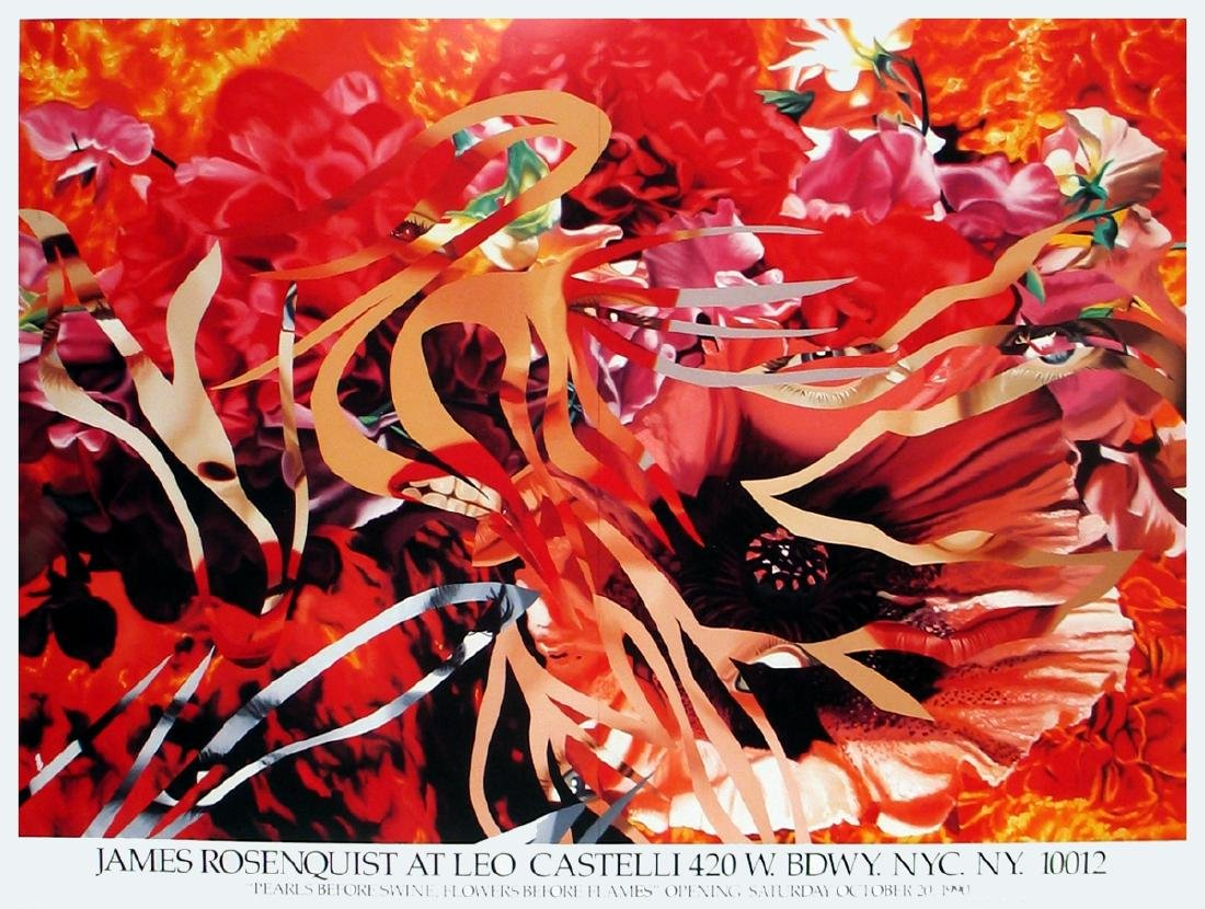 James Rosenquist Offset Lithograph Pearls Before Swine,