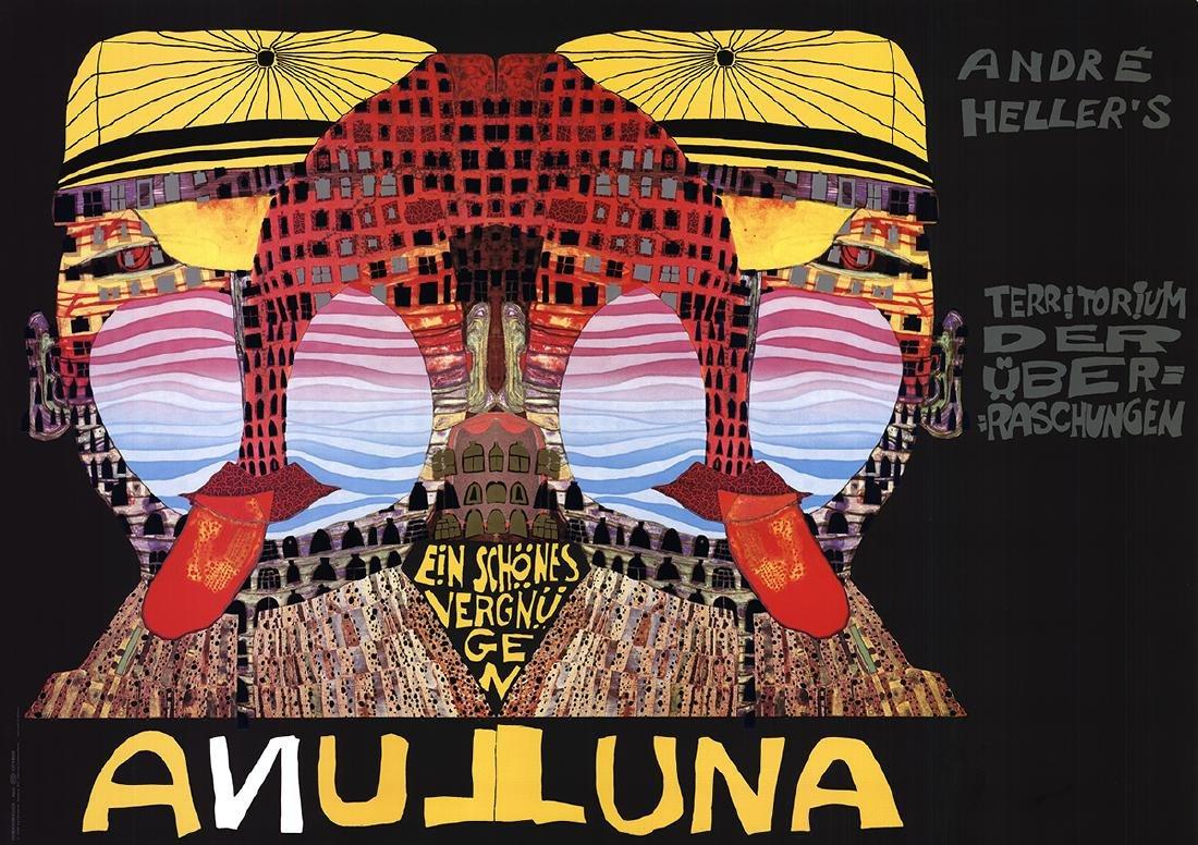 Friedensreich Hundertwasser Serigraph Luna Luna