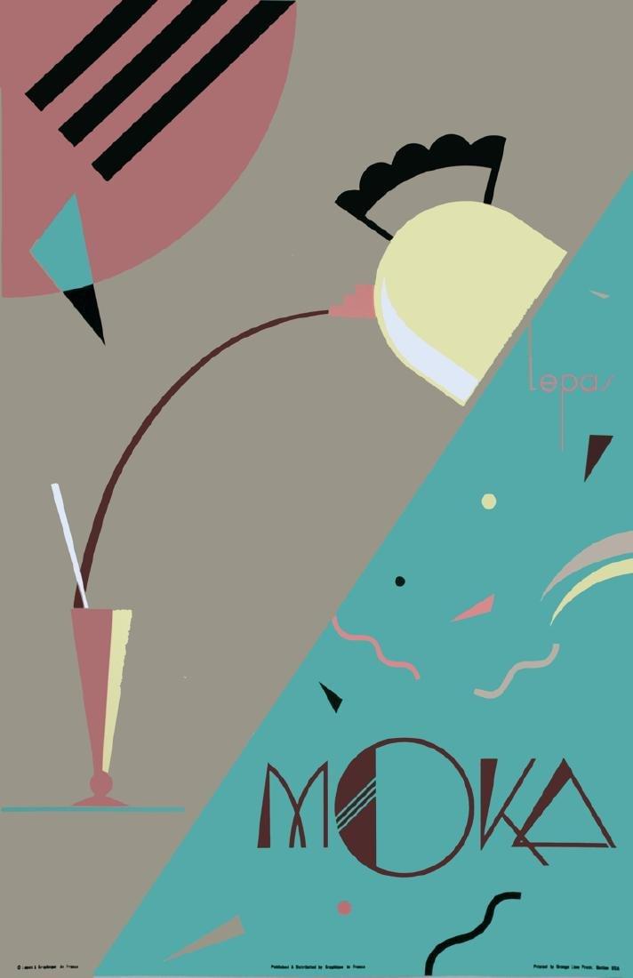 Charles Lepas Serigraph Moka