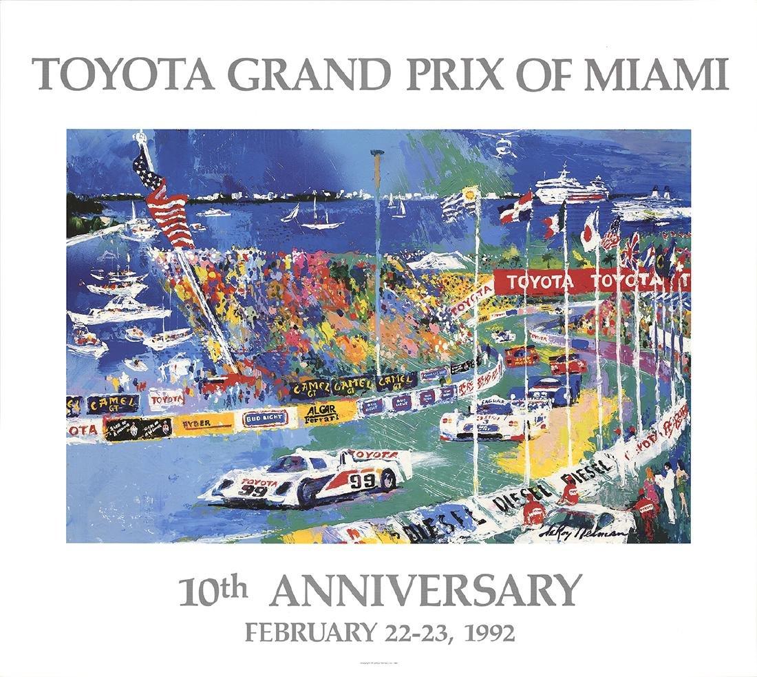 LeRoy Neiman Offset Lithograph Toyota Grand Prix of
