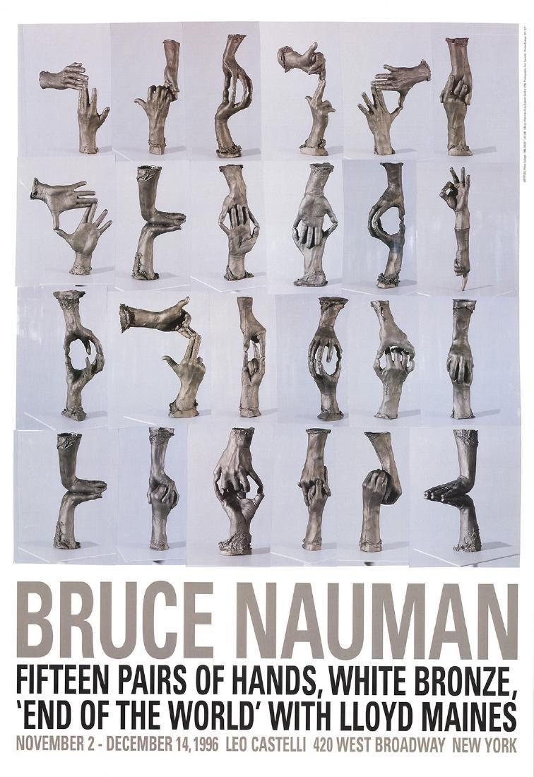 Bruce Nauman Offset Lithograph Fifteen Pairs of Hands