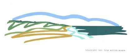 Tom Wesselmann Serigraph Seascape (No text)