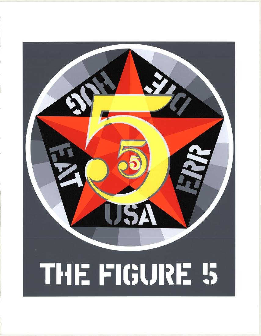 Robert Indiana Serigraph The Figure Five
