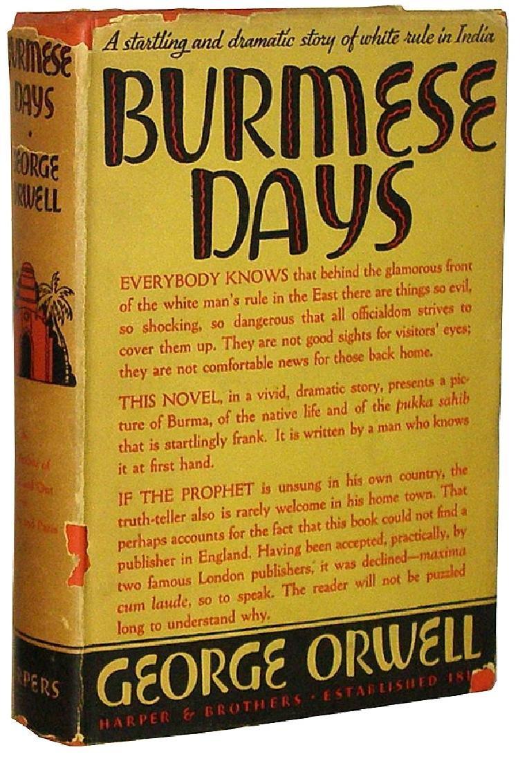 Burmese Days Orwell, George First edition, first