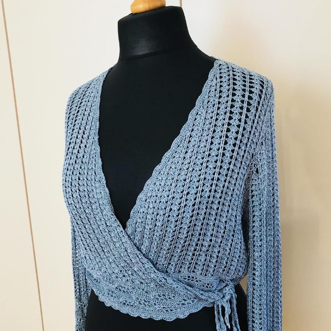 Vintage Women's Designer Sweater Cardigan Top Size US 6 - 2