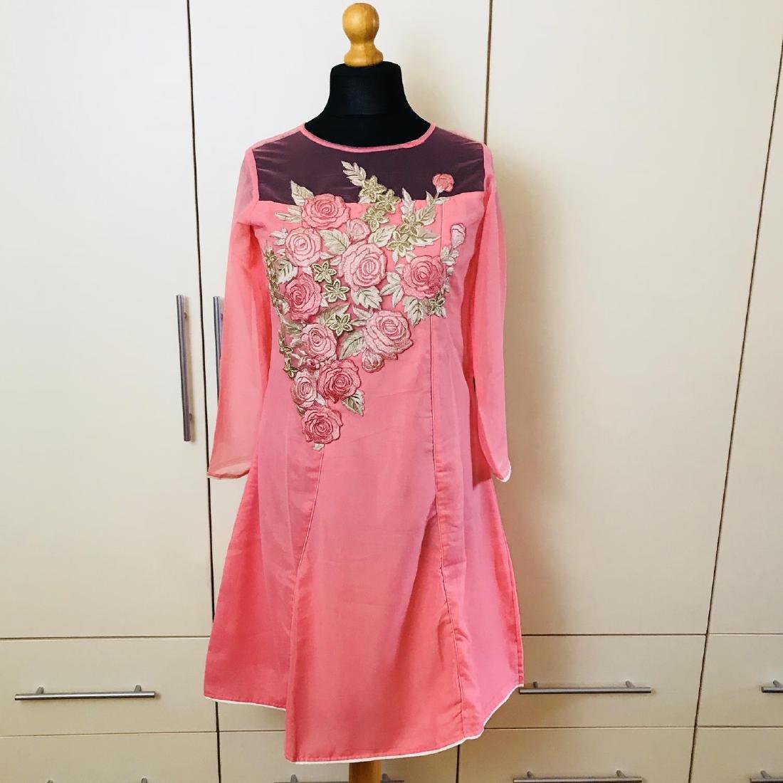 Vintage Women's Pink Party Dress Size US 6 EUR 36 /