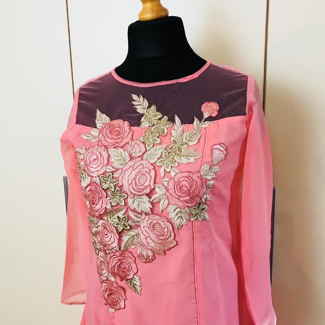 Vintage Women's Pink Party Dress Size US 6 EUR 36 / - 2