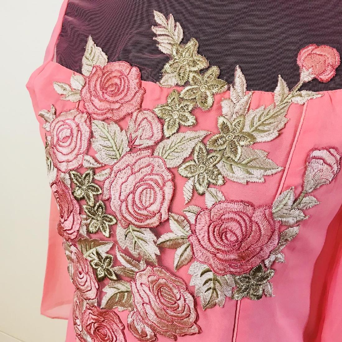 Vintage Women's Pink Party Dress Size US 6 EUR 36 / - 3