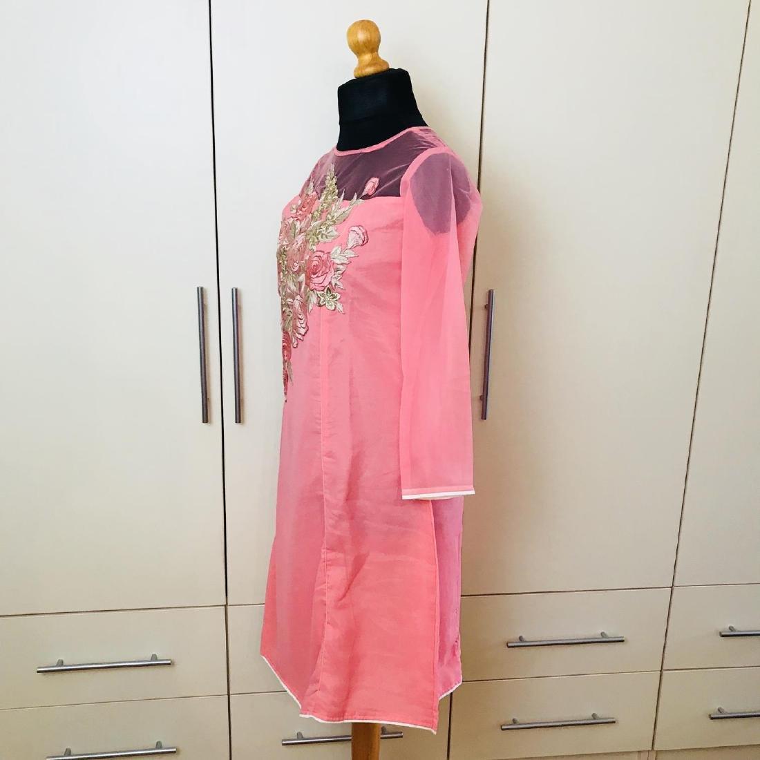 Vintage Women's Pink Party Dress Size US 6 EUR 36 / - 4