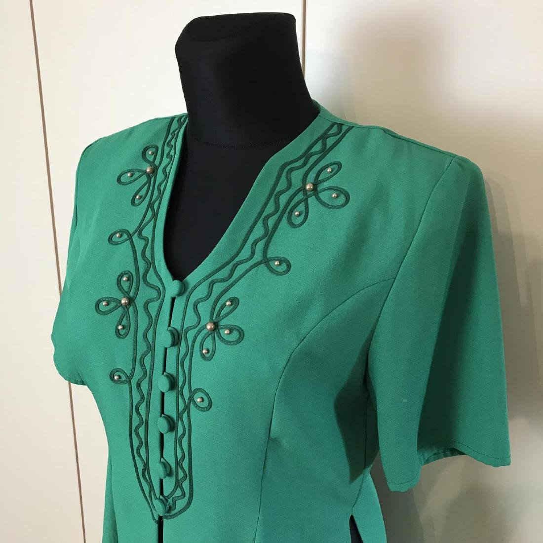 Vintage Women's Blouse Shirt Jacket Size US 12 UK 16 - 2