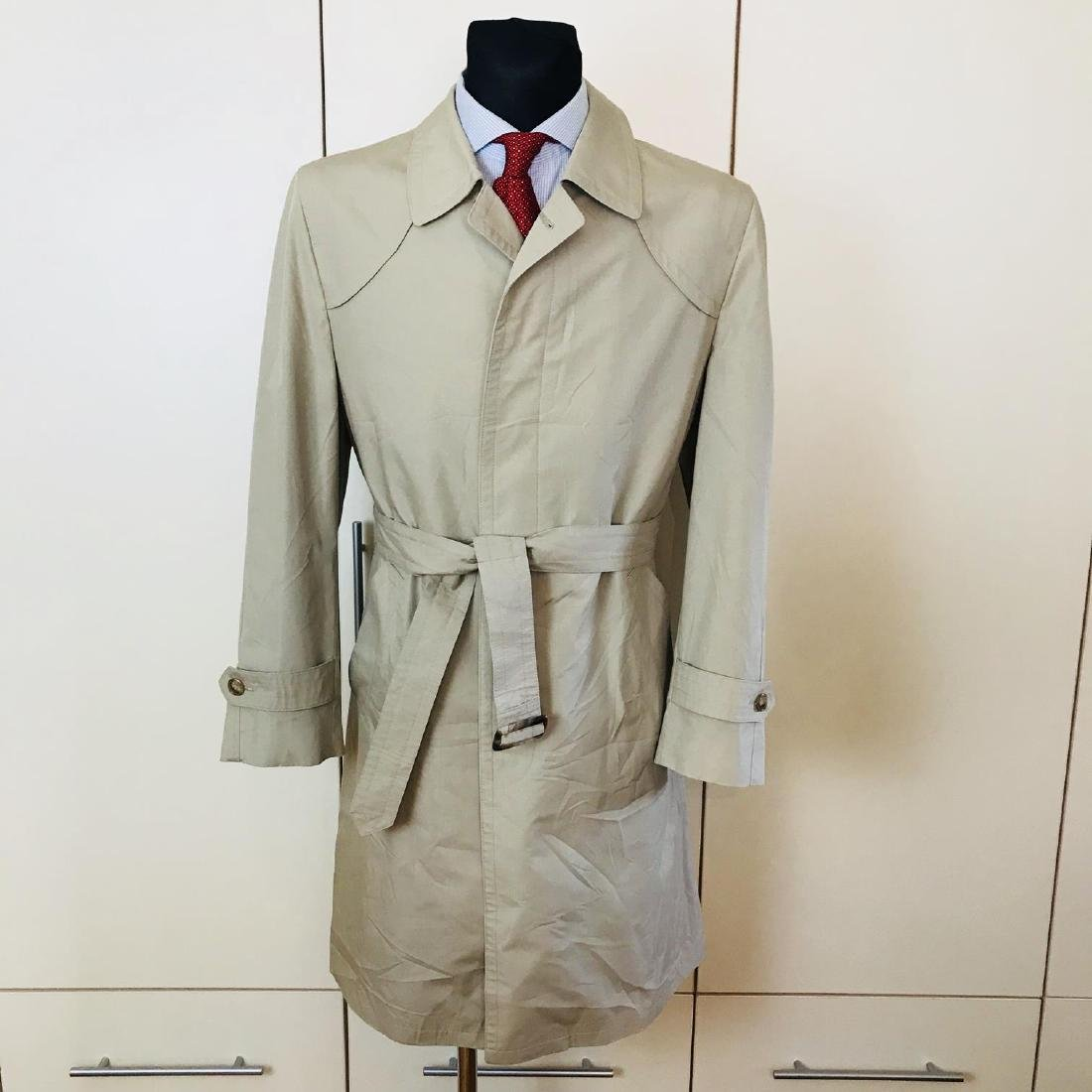 Vintage Men's Beige Trench Coat Size US 40 / EUR 50