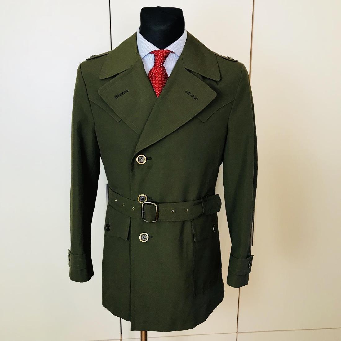 Vintage Men's Green Trench Coat Size US 38 / EUR 48