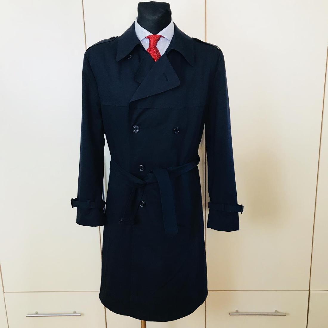Vintage Men's Navy Blue Trench Coat Size US 42 / EUR 52