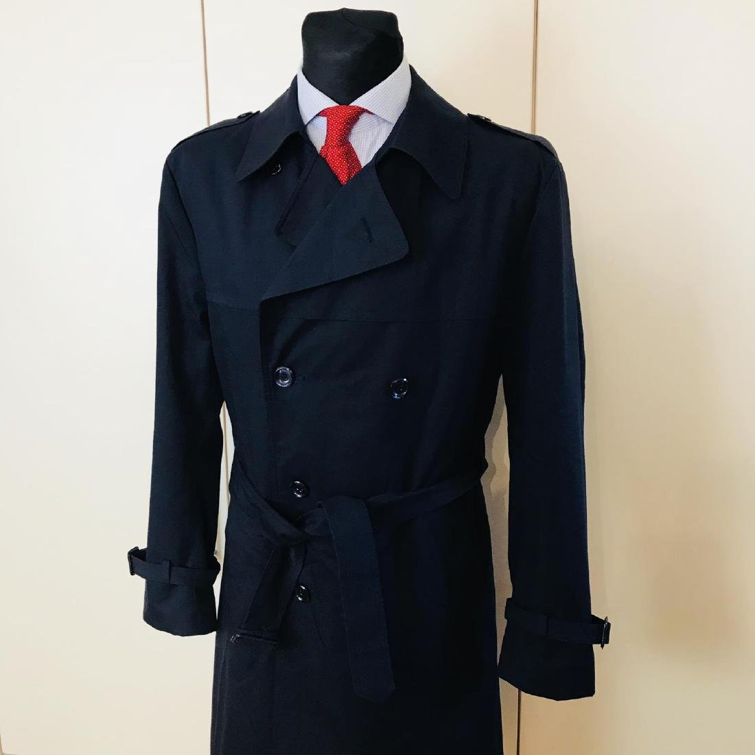 Vintage Men's Navy Blue Trench Coat Size US 42 / EUR 52 - 2