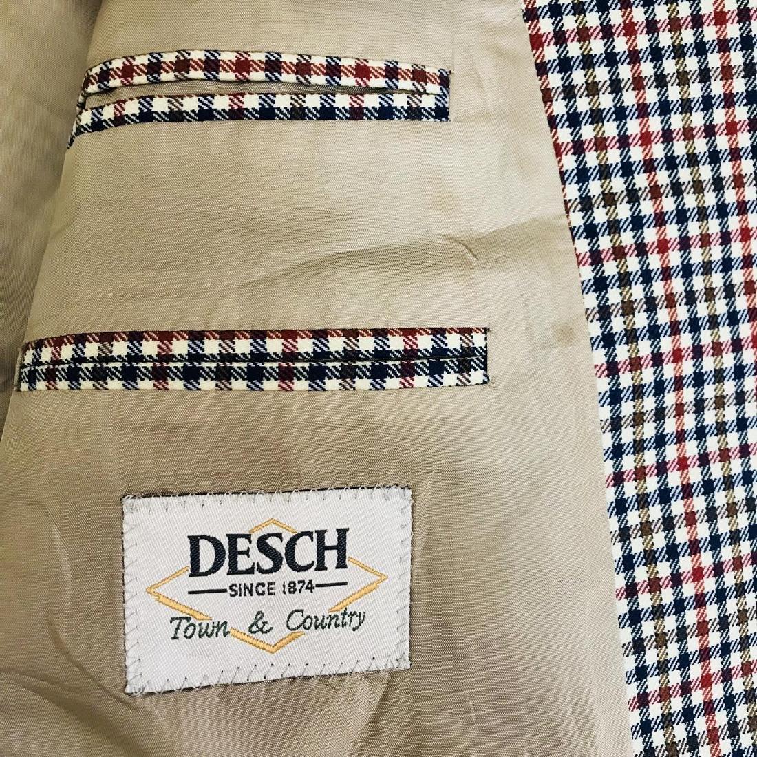 Vintage Men's DESCH Jacket Blazer Size US 46 SHORT - 6
