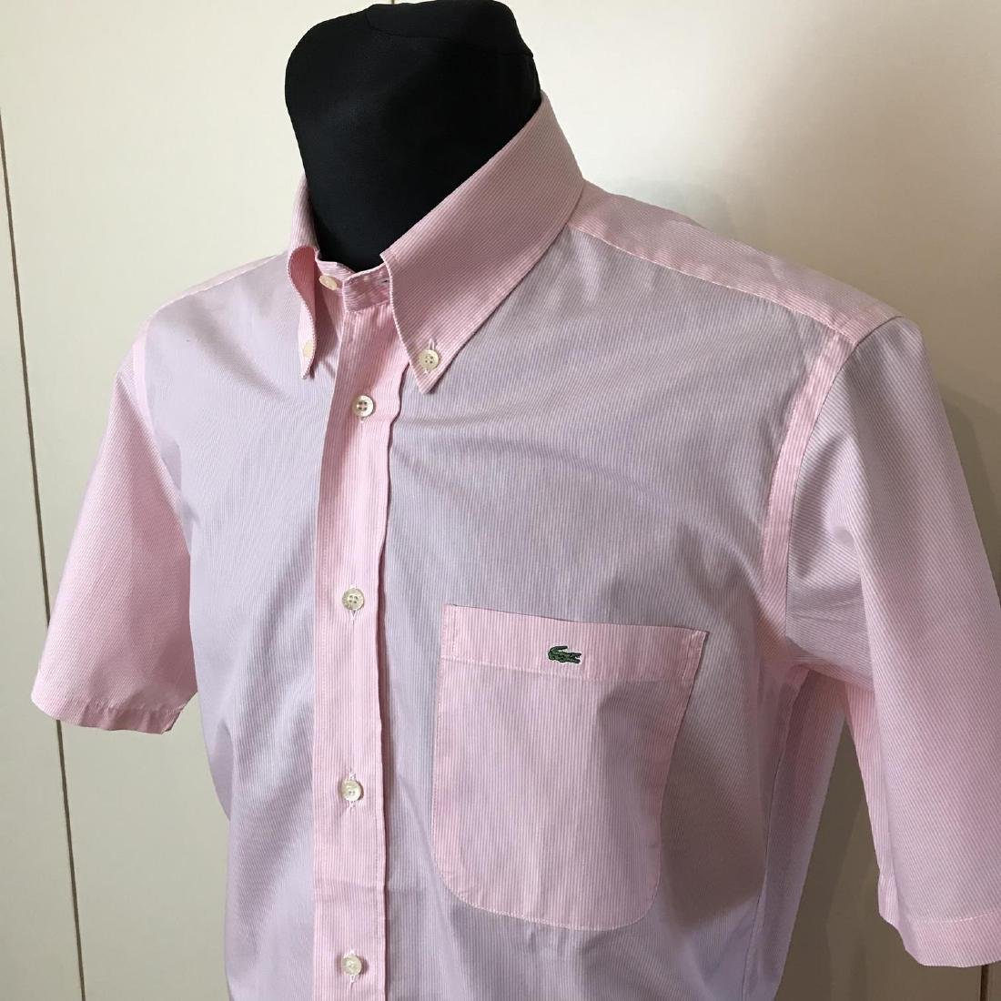 Men's Lacoste Pink Short Sleeve Shirt Top Size US 40 - 2