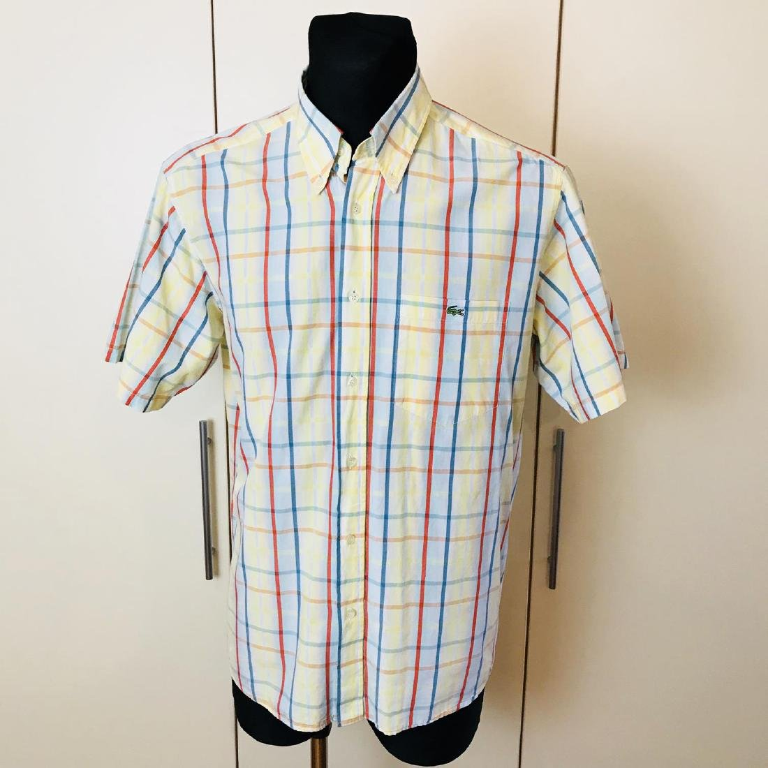 Men's Lacoste Short Sleeve Shirt Top Size US 41 Large