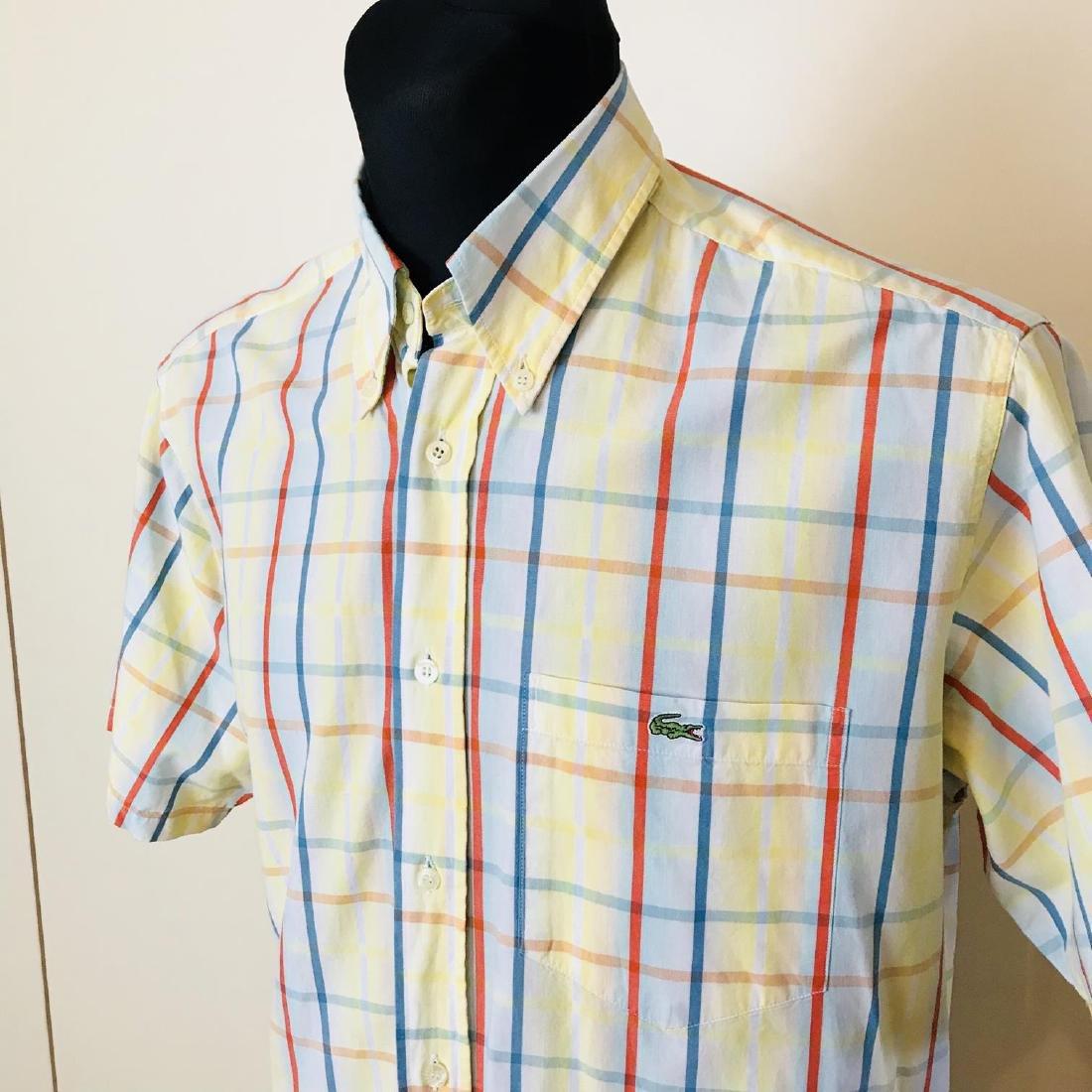 Men's Lacoste Short Sleeve Shirt Top Size US 41 Large - 2