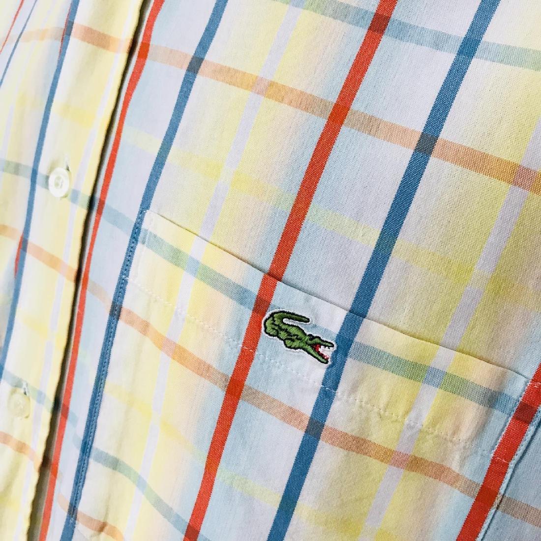 Men's Lacoste Short Sleeve Shirt Top Size US 41 Large - 3