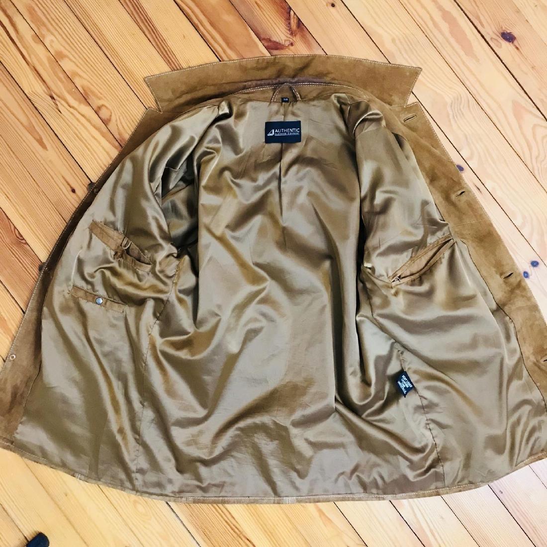 Vintage Men's Brown Suede Leather Jacket Coat Size 40 - 6