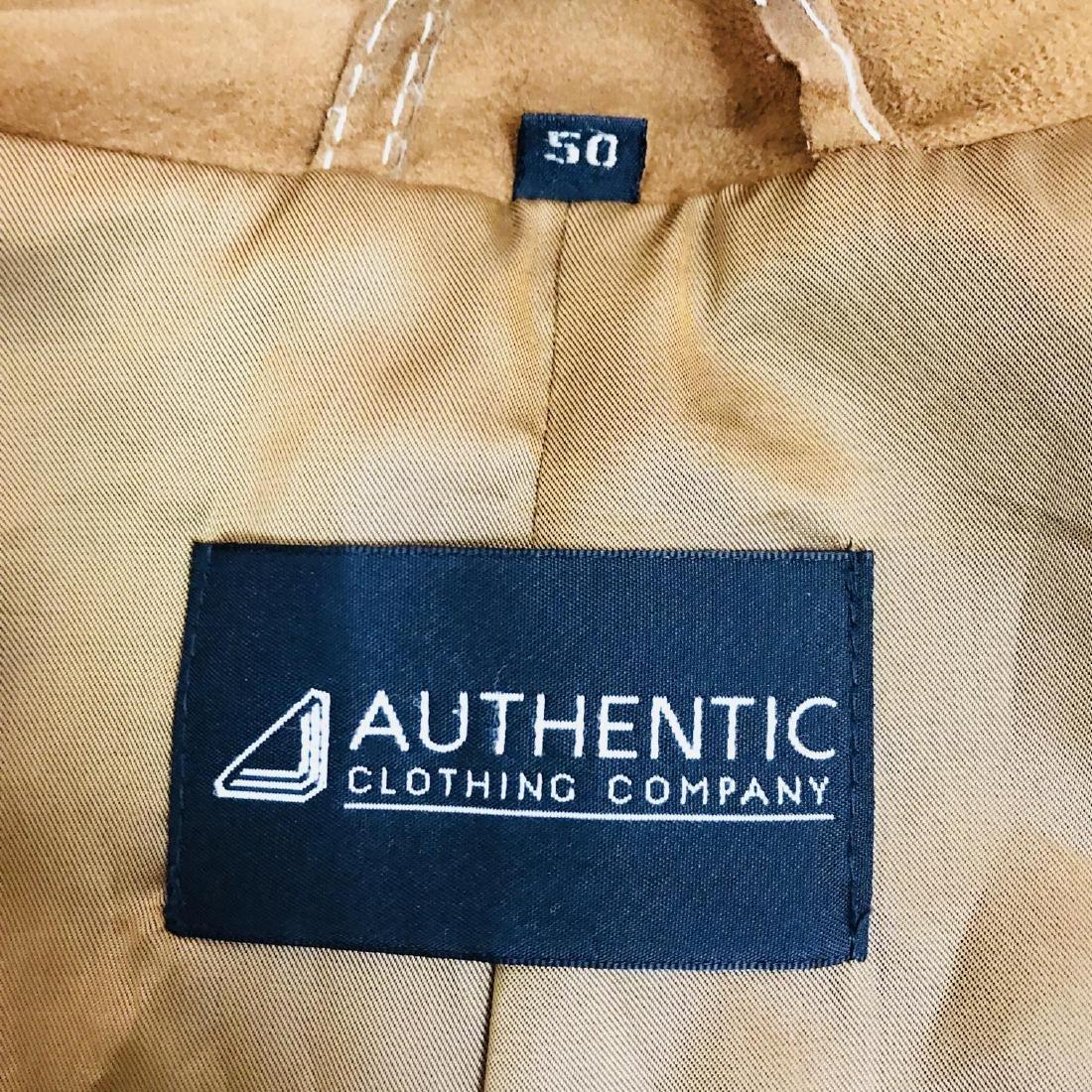 Vintage Men's Brown Suede Leather Jacket Coat Size 40 - 7