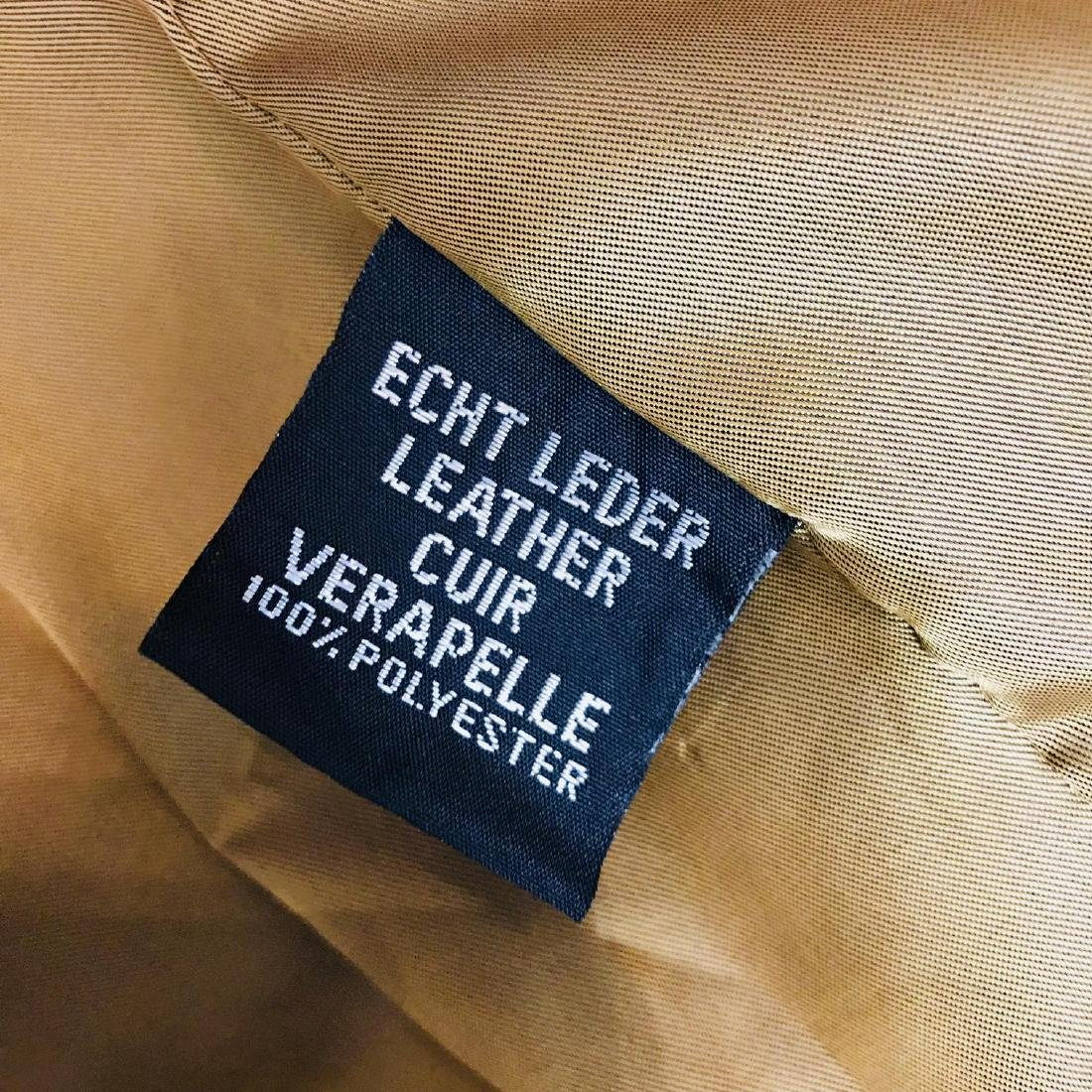 Vintage Men's Brown Suede Leather Jacket Coat Size 40 - 8