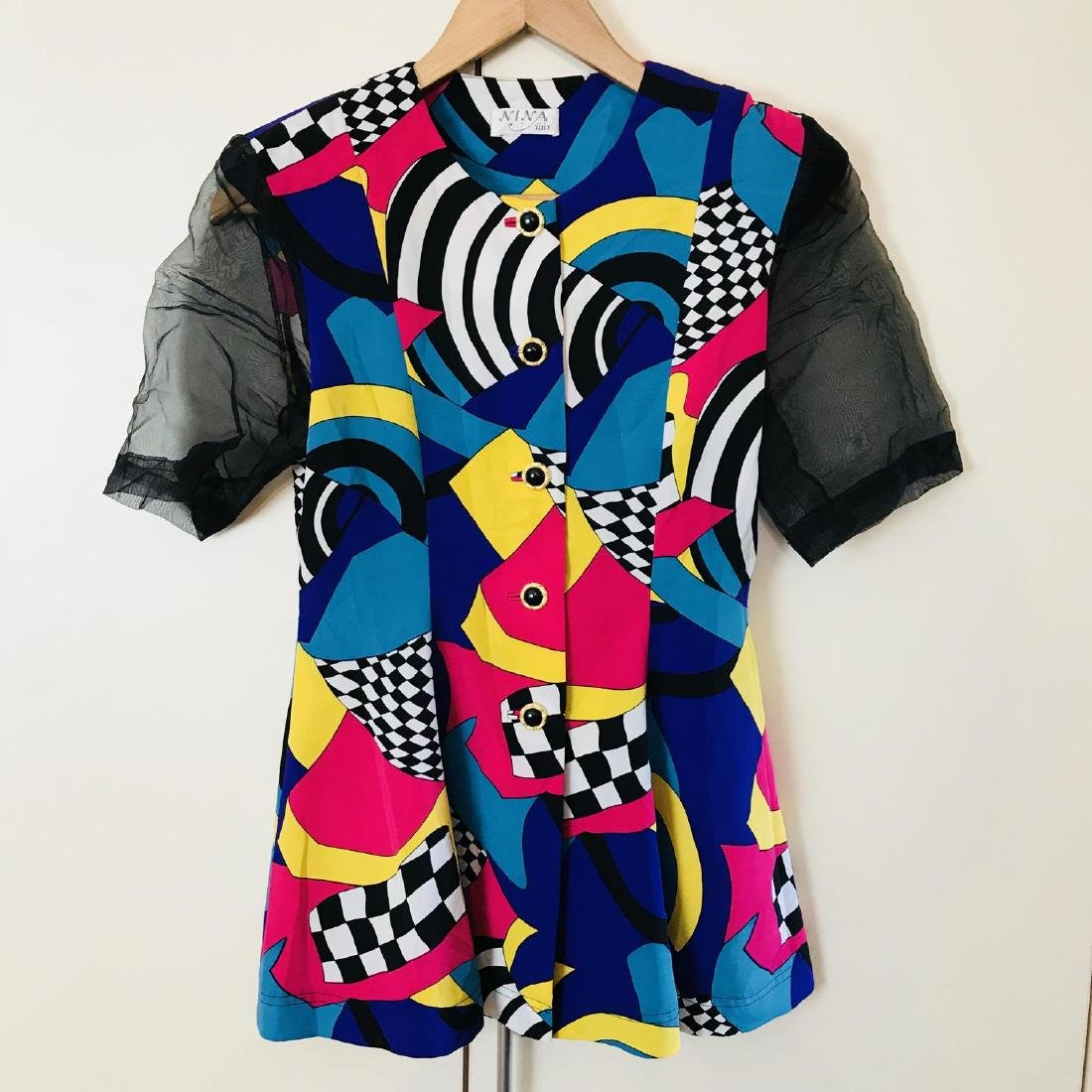 Vintage Women's Nina Riri Summer Blouse Top Size US 8 - 5