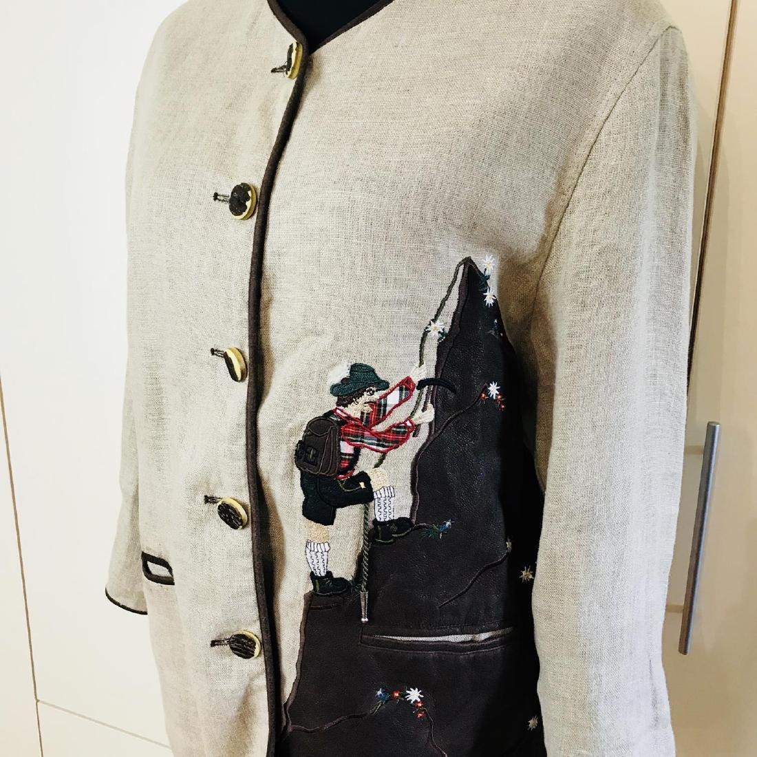 Vintage Women's Linen Tyrolean Style Jacket Size US 20 - 2