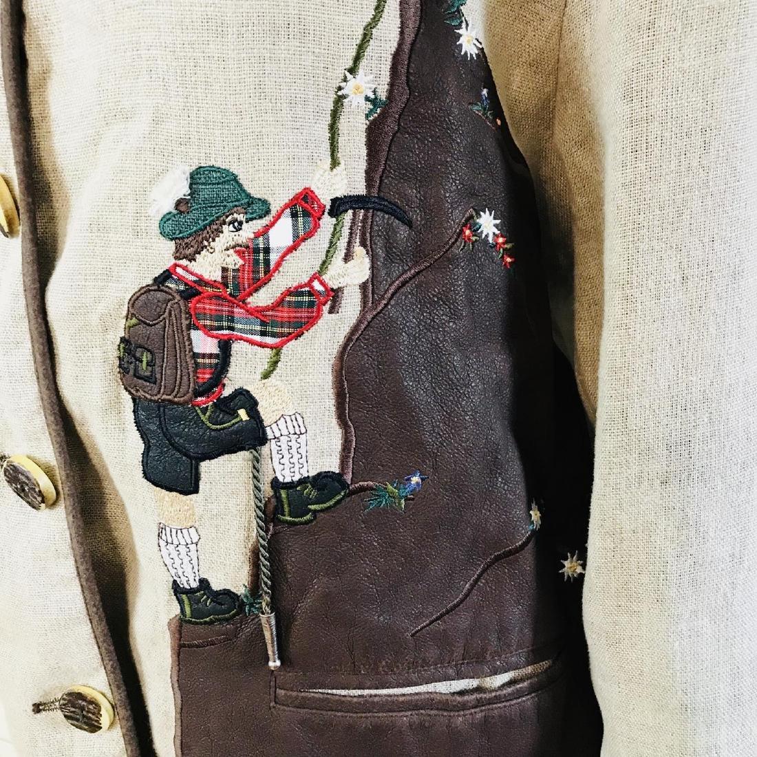Vintage Women's Linen Tyrolean Style Jacket Size US 20 - 3