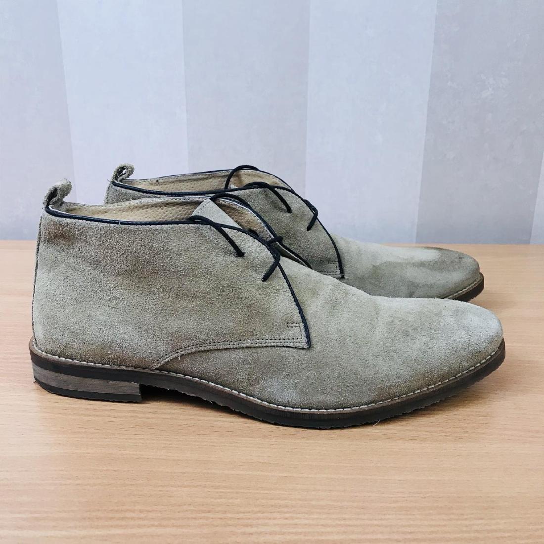 Vintage Men's Suede Leather Shoes Size EUR 44 US 11 - 2
