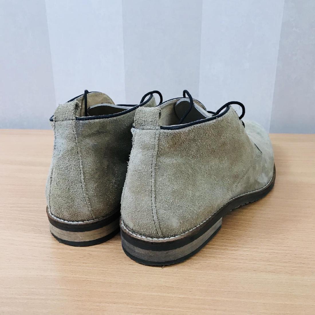 Vintage Men's Suede Leather Shoes Size EUR 44 US 11 - 3