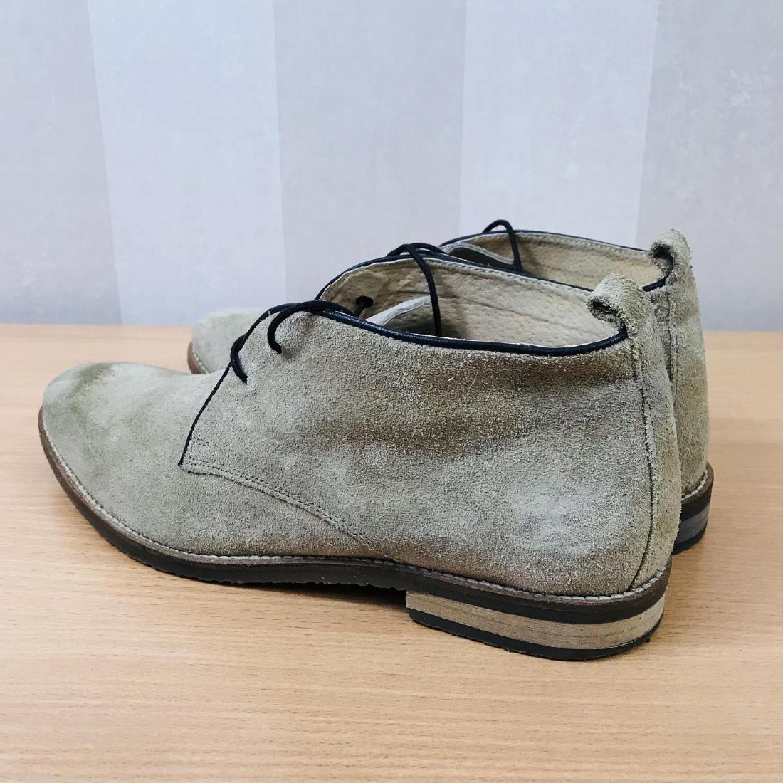 Vintage Men's Suede Leather Shoes Size EUR 44 US 11 - 4