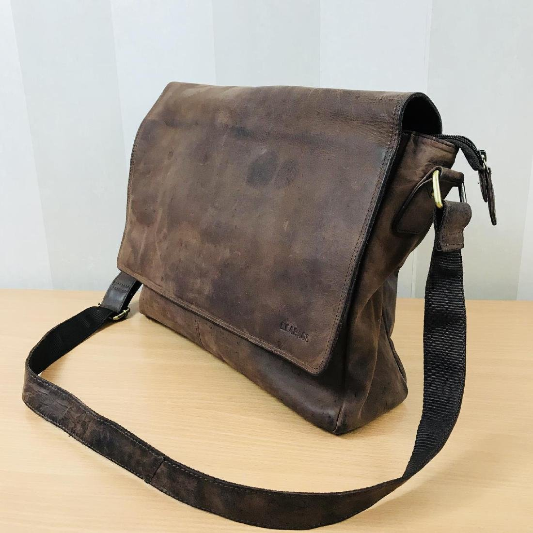 Vintage LEABAGS Leather Shoulder Bag - 2