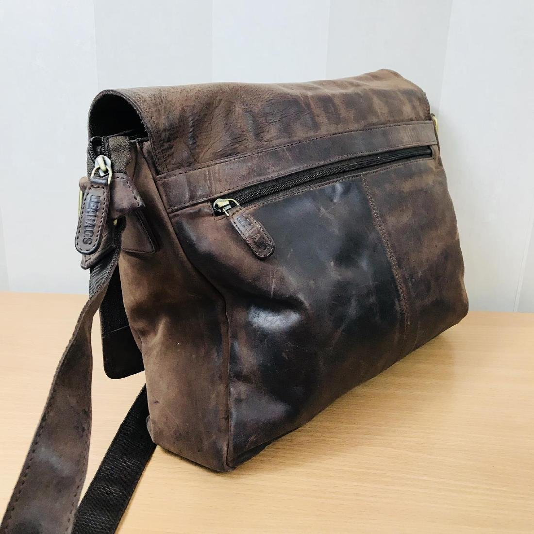 Vintage LEABAGS Leather Shoulder Bag - 3