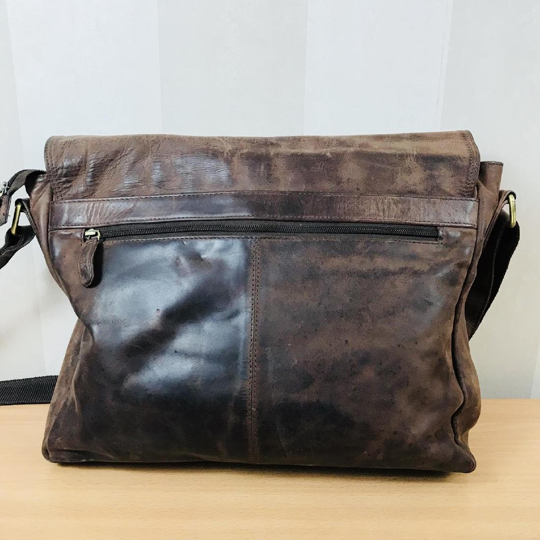 Vintage LEABAGS Leather Shoulder Bag - 4