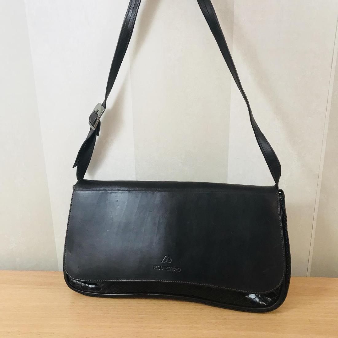 Vintage Brown Snakeskin / Leather Shoulder Bag