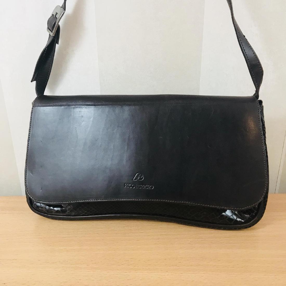 Vintage Brown Snakeskin / Leather Shoulder Bag - 2