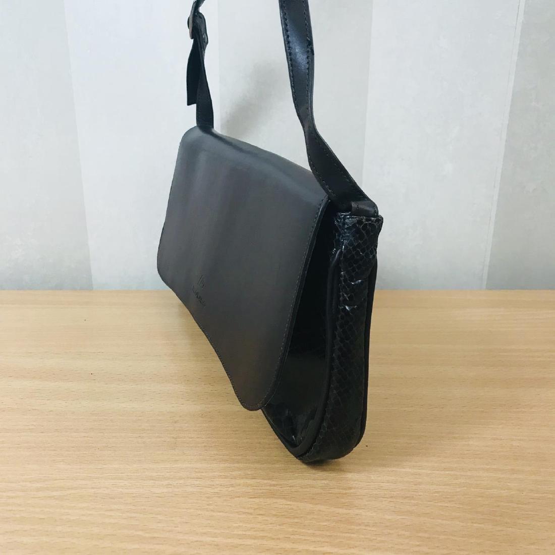 Vintage Brown Snakeskin / Leather Shoulder Bag - 3
